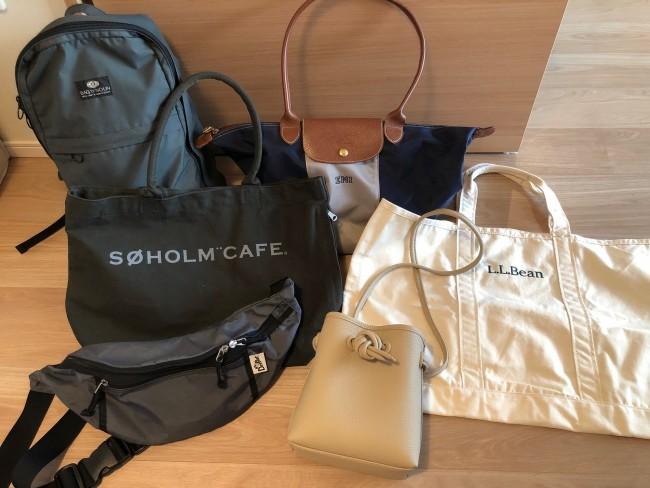 これらがスタメンのわたしのおでかけバッグたちです