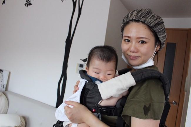 抱っこひもメインの息子のために、腰痛ママが考案したヒップシートを購入