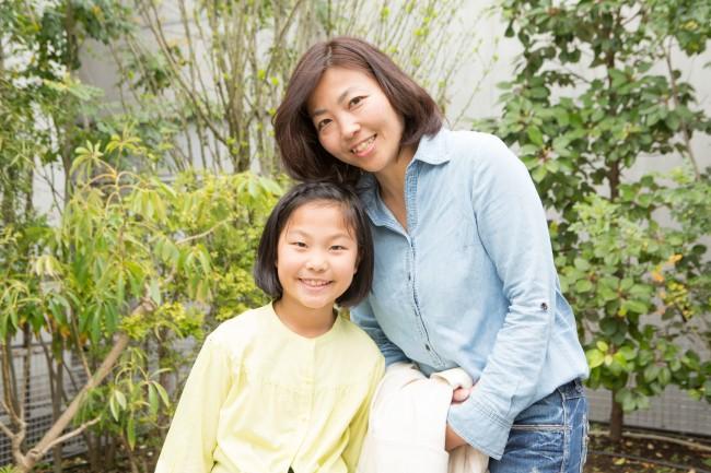 山村由香さん、優波ちゃん(7歳)