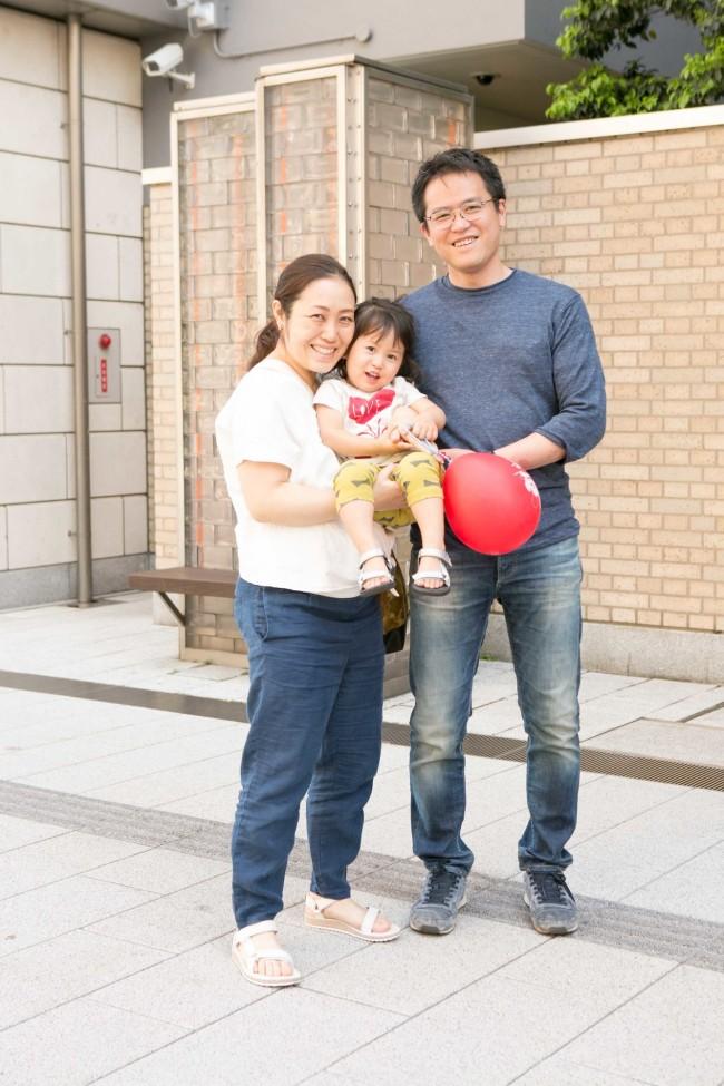 可奈子さん、凜友ちゃん(2歳)