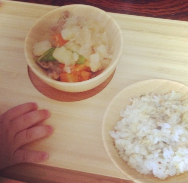 ご飯が美味しそうに見える、竹のナチュラルな食器です