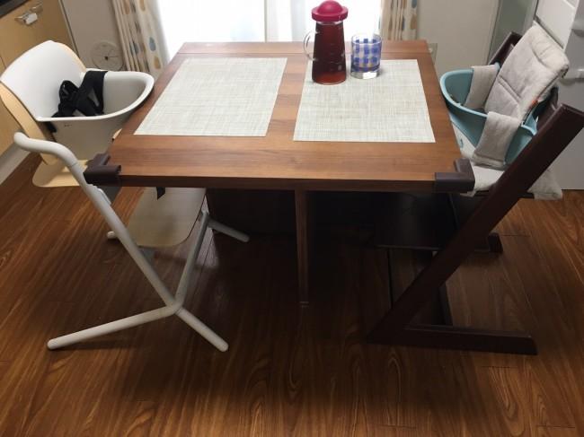 我が家のテーブルと早速合わせてみました♪